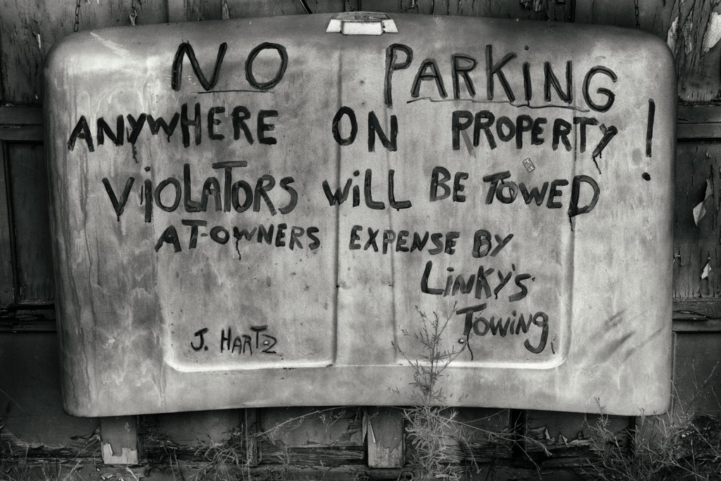 no parking hood